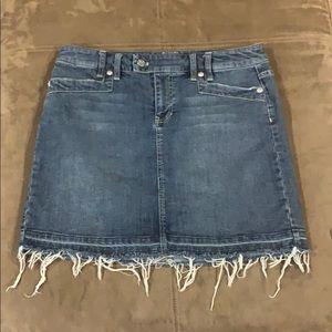 Women's WHBM Distressed Denim Skirt Stretch 10